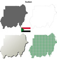 Sudan outline map set vector image vector image