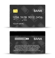 Templates of credit cards design vector image vector image