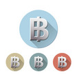 thai baht currency symbol vector image vector image