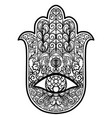 the hand of fatima hamsa god s hand vector image