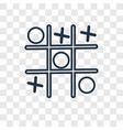 tic tac toe concept linear icon isolated on vector image