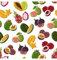 Tropical dessert fruits seamless pattern vector image vector image