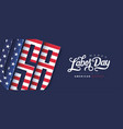 usa happy labor day advertising banner template vector image