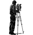 videographer vector image vector image