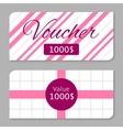 Voucher card vector image