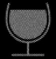 white dot wine glass icon vector image