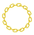 Yellow Chain Round Frame vector image