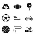youngster icons set simple style vector image vector image