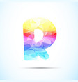 letter r logo icon vector image