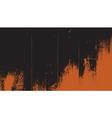 Old wood texture Dark wooden orange color vector image