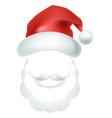 video chat santa claus face selfie effect photo vector image