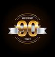 90 years anniversary celebration logotype golden