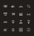 airport terminal - flat icons vector image vector image