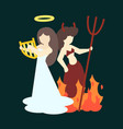 angel and demon flat vector image