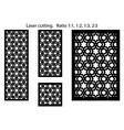 arabic islamic decorative wall screen panel vector image vector image