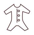 babodysuit clothes garments for infant kids vector image vector image