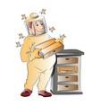 beekeeper vector image