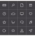 black universal icons set vector image vector image