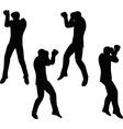 boxer businessman silhouette vector image
