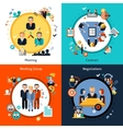 Business Meeting Set vector image