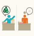 Businessman working hard vector image vector image