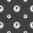 Car parking icon sign Seamless pattern on a gray vector image