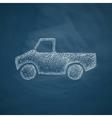 car pickup icon vector image vector image