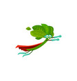 cartoon spinach super hero isolated icon vector image vector image
