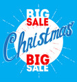 christmas big sale poster for the week of vector image