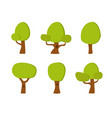 collection of cartoon trees park element vector image