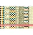 Collection of retro seamless patterns vector image vector image