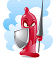 condom the guarder vector image vector image