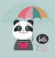 cute colorful panda vector image