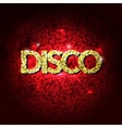 Disco party lights gold background Hot dance vector image vector image