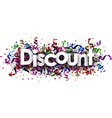 discount banner with colorful serpentine vector image vector image