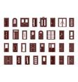 doors interior and exterior objects doors vector image vector image
