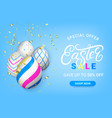 easter sale discount banner template vector image vector image