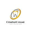elegant golden dental logo design inspiration vector image