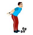 exercising man doing bending vector image vector image