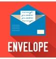 flat open envelope design concept vector image vector image