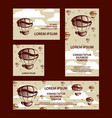 flying coffee mug and a coffee grains banners set vector image