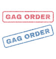 gag order textile stamps vector image vector image