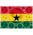 Ghana soccer balls vector image vector image