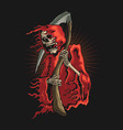 grim reaper with scyth graphic vector image