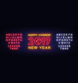 Happy chinese new year 2019 design template