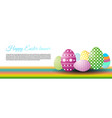 happy easter with easter egg on white vector image