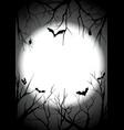 happy halloween graveyard silhouette background vector image vector image