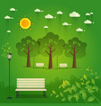 hello park natural landscape in the flat style a vector image vector image