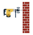 icon of perforator drilling wall vector image vector image