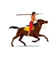Indian on horseback Cartoon vector image vector image
